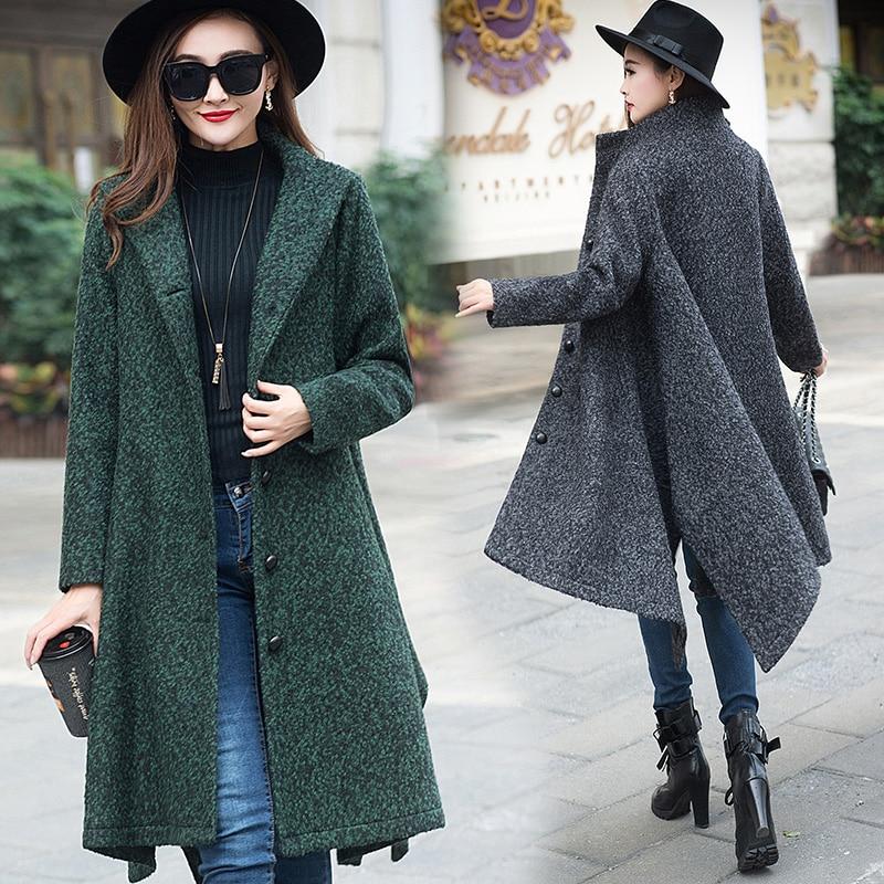 New arrival Women Winter Wool Coat Casual Dress Elegant Ladies ...