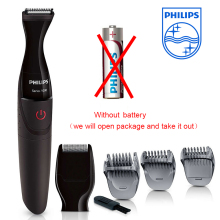 Philips Grooming Kit Trimmer Hair Clipper Turbo MG1100 with AA Dry Battary Head Wash Electric Beard Shaving Machine