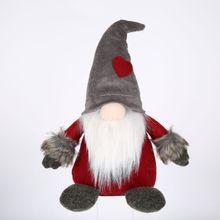 Christmas Decoration Swedish Santa Gnome Plush Handmade Scandinavian Dwarf Household Decorations for Home