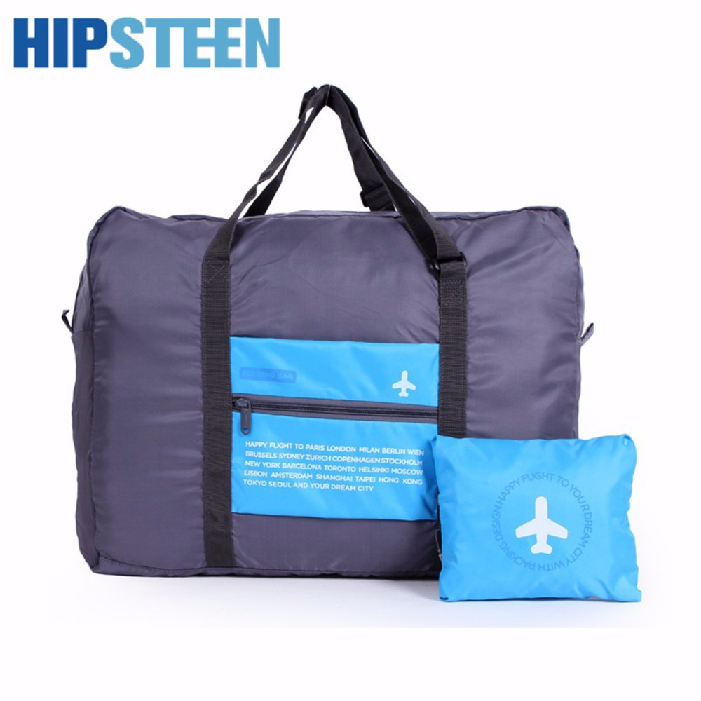 HIPSTEEN Waterproof Portable Folding Men Women Bags Travel Bags Attached To Luggage Travel Organizer Storage Bag Hot Sale Drop