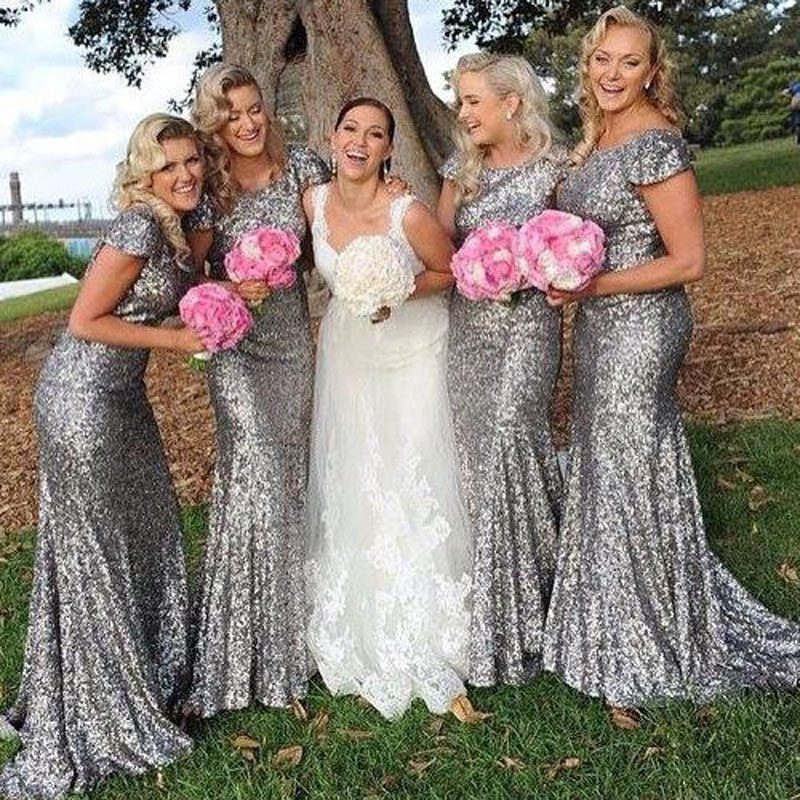 Online Get Cheap Silver Sparkly Bridesmaid Dresses -Aliexpress.com ...