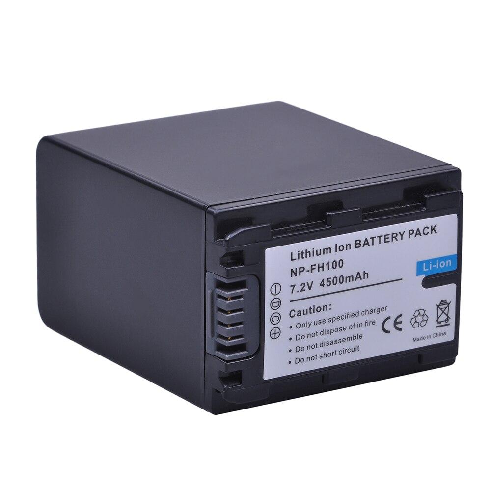 1 unid 4500 mAh NP-FH100 NP FH100 FH100 batería para Sony DCR-SX40 SX40R SX41 HDR-CX105 FH90 FH70 FH60 FH40 FH30 FP50 SR42E SR45E