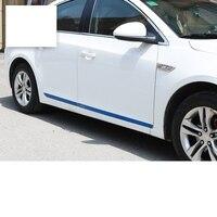 Lsrtw2017 Stainless Steel Car Door Edge Anti collision Strip Trims for Chevrolet Cruze 2009 2010 2011 2012 20132 014 2015