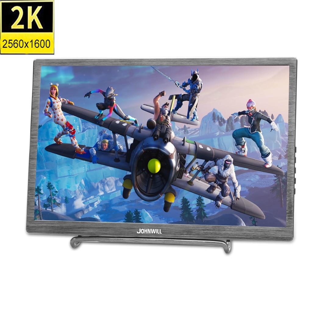 """10.1 """"2 K Type-c Black Metal Draagbare Gaming Monitor 2560x1600 Ips Panel Ps3 Ps4 Xbox360 Display Voor Raspberry Wint 7 8 10 Ideaal Cadeau Voor Alle Gelegenheden"""