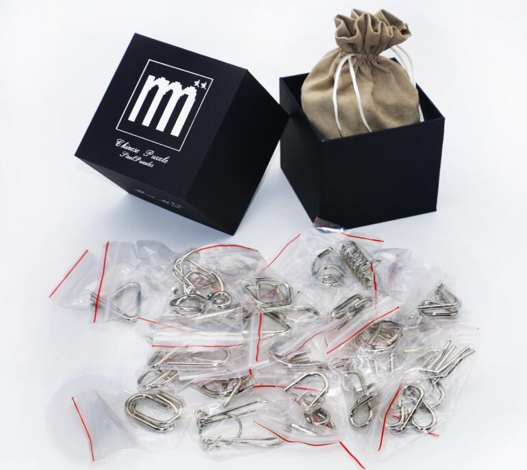 28 / 32PCS per Set IQ Metal Puzzle Mind Brain Teaser Magic Wire - Spel och pussel - Foto 3