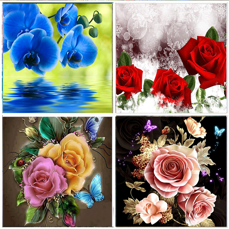 5D DIY Diamond Painting Full Diamond flower Pattern Embroidery Set Mosaic Cross Stitch picture Rhinestone Home Decoration Gifts in Diamond Painting Cross Stitch from Home Garden