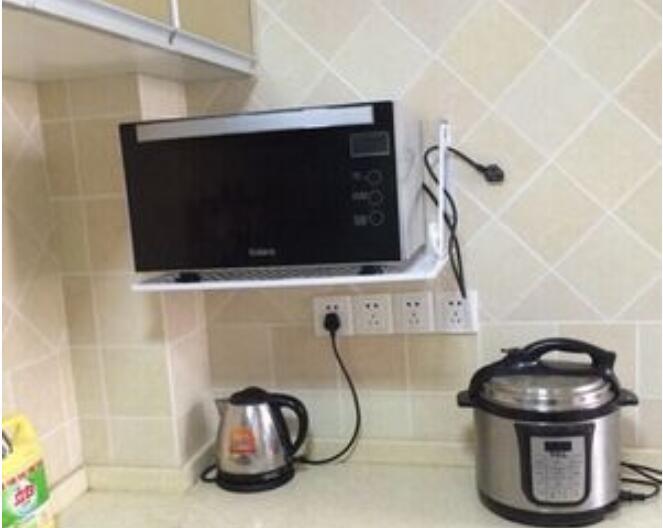 Keuken Kleine Planken : Creatieve magnetron plank metalen keuken opslag houder