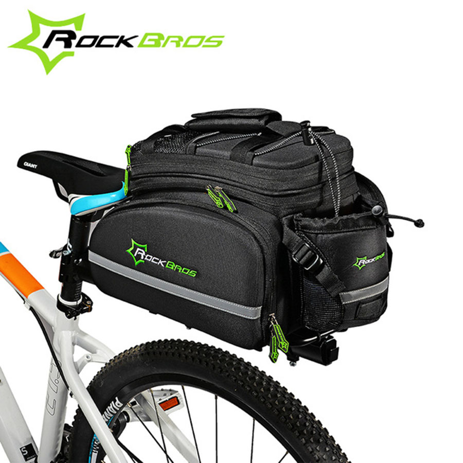 ROCKBROS Bicycle Bag Multifunctional Cycling Bike Rear Saddle Pack Bag Cycling Frame Rack Pack Large Capacity Travel Bag rockbros mtb road bike bag high capacity waterproof bicycle bag cycling rear seat saddle bag bike accessories bolsa bicicleta