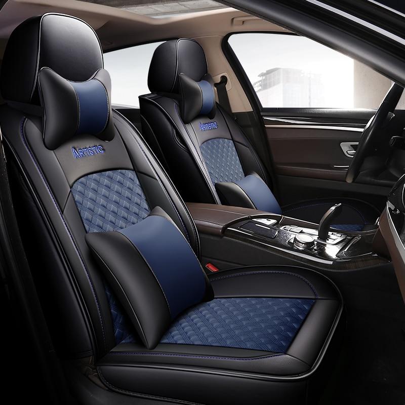 Nouveau cuir universel auto housses de siège pour volkswagen tous les modèles vw polo passat b6 b7 b8 golf 5 6 7 touran tiguan jetta voiture