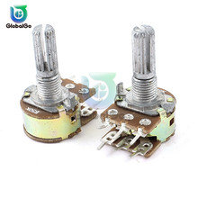 5pcs/Lot WH148 B50K 3Pin 15mm Rotary Potentiometer 50K Adjust Volume Switch Potentiometer For Story Machine Household Appliances 142 vertical double potentiometer b50k flower stem length 13mm
