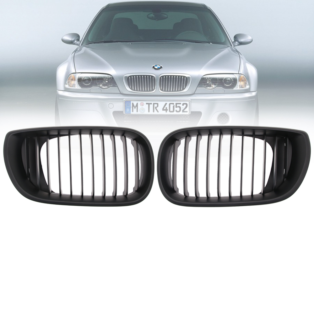 Black Kidney Grilles Grill For BMW E46 3 Series 2002 2003