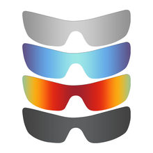 46c90394d9 4 Pieces Mryok Anti-Scratch POLARIZED Replacement Lenses for Oakley Batwolf Sunglasses  Black   Blue   Red   Silver