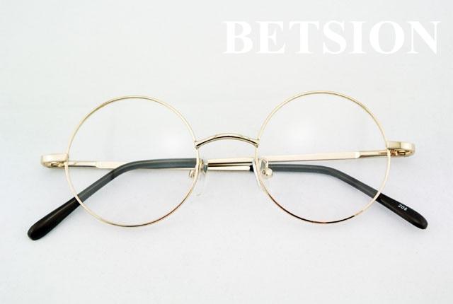 BETSION 42mm Retro Óculos de Aro Cheio de Armações De Óculos Redondos Do  Vintage Óculos Rx capaz em Armações de óculos de Acessórios de vestuário no  ... c4d367db46