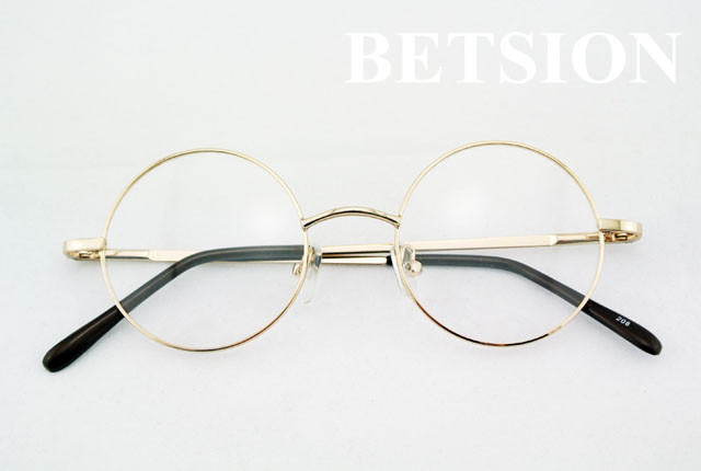 b63f36100 BETSION Vintage 42mm Round Eyeglass Frames Retro Full Rim Glasses  Spectacles Rx able