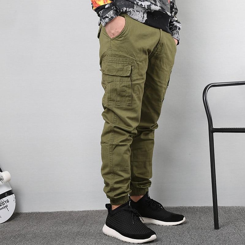 Japanese Vintage Fashion Men Jeans Loose Fit Big Pockets Casual Cargo Pants Harem Trousers Streetwear Hip Hop Joggers Pants Men 4