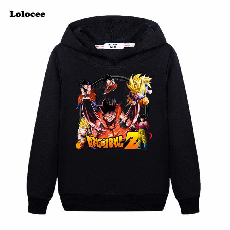 2017 Neue Anime Hoodies Dragon Ball Z Mit Kapuze Sweatshirts Kinder Goku Pullover T-shirt Jungen Mädchen Langarm Tops Alter 3-13 Kann Wiederholt Umgeformt Werden.