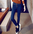2016 spring new Korean women slim skinny jeans tight pants.