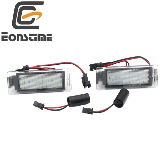 Eonstime 2 Sztuk Licencja Led Oświetlenie Tablicy Rejestracyjnej Dla Opel Vauxhall Mokka Insignia Sport Tourer Vxr8 Chevrolet Gmc Cadillac Xts W