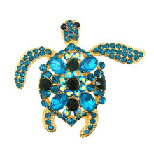 Sea Turtle Brooch Kids Girls Clothes Accessories Gold-color Silver Brooches Birthday Gifts Jewelry(China)