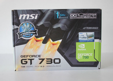 New Graphics card for MSI N730K-1GD5LP/OC V1 GT730 1G DDR5 video cards to send short knife baffle free shipping