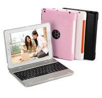 Tipo de moda Clamshell teclado Bluetooth com energia móvel Para ipad 2 3 4 Tablet PC para o ipad 2 3 4 caso de teclado