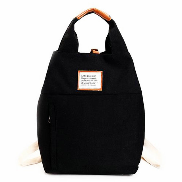 62cf81a53189 US $24.88 |2018 Lovely women girls canvas gym bag printing letter school  student training backpack beach travel handbag running storage bag-in Gym  ...