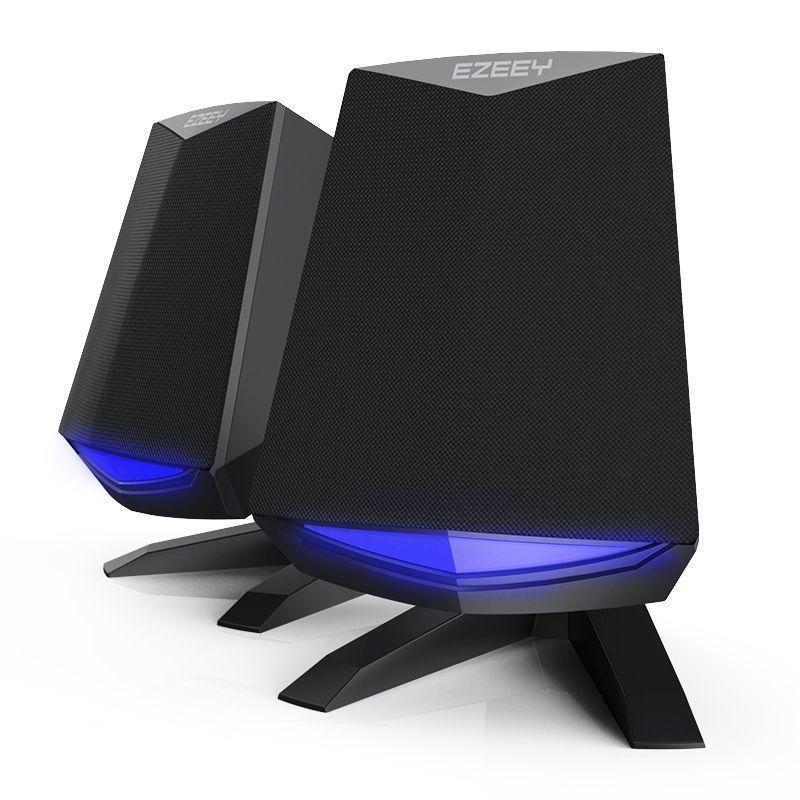 Computer-lautsprecher Preiswert Kaufen Gaming Led Licht Mini Portable Usb Powered 2 Lautsprecher Bass 2,0 Für Laptop Computer Pc 3,5mm Audio Lautsprecher Computer Lautsprecher FüR Schnellen Versand