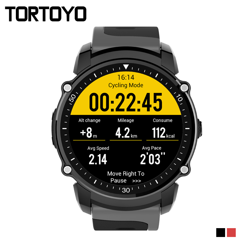 TORTOYO FS08 Bluetooth Smart Watch Waterproof IP68 Swim GPS Sports Fitnes Tracker Stopwatch Heart Rate Monitor Wristwatch Clock ukb 106 all in one world s most mini 2 4ghz wireless qwerty keyboard mouse presenter combo with touchpad lithium battery for home office