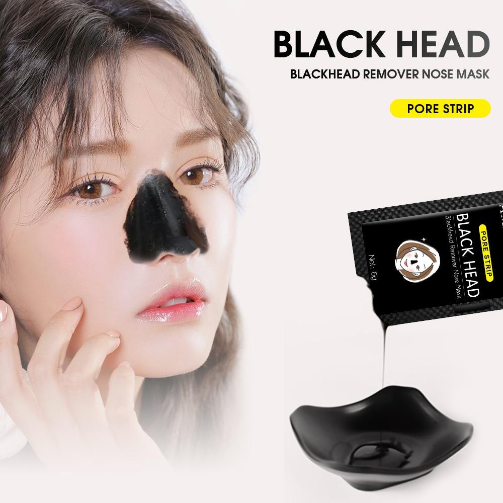 Ameizii Black Facial Peel Off Mask Korean Skin Care Blackhead Face Charcoal Masks Black Dots Remover Acne Treatment Shrink Pores