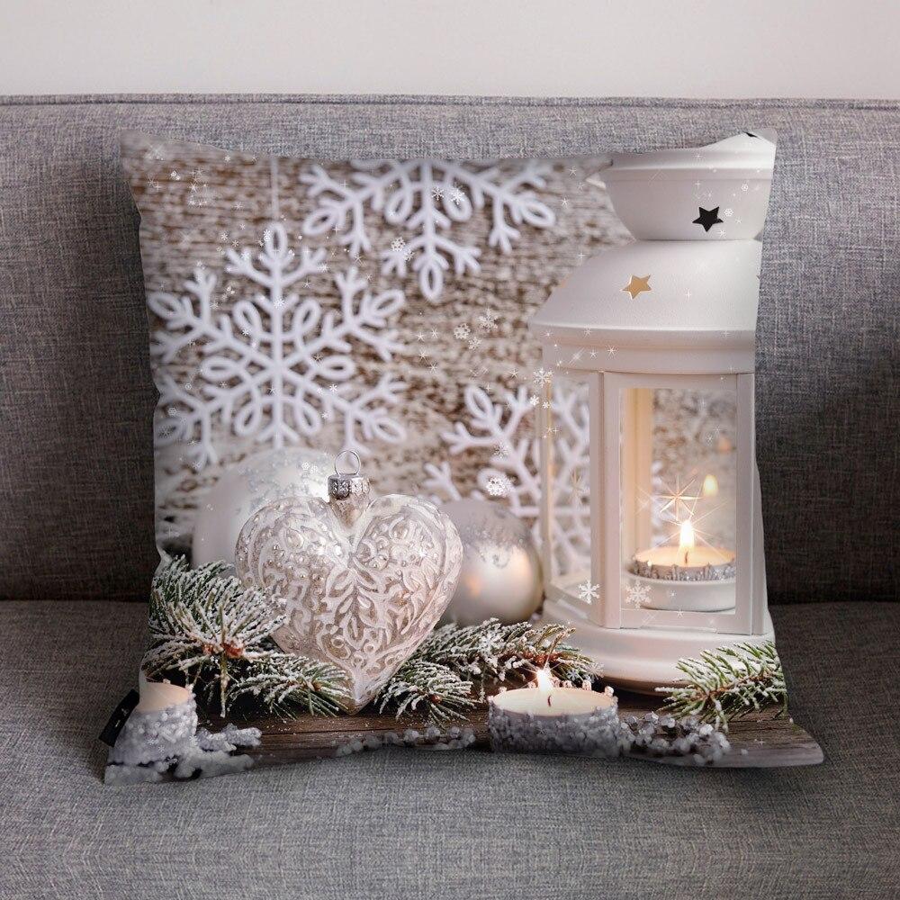 Merry Christmas Cushion Cover Print Polyester Cotton Soft Cute Throw Pillow Cover Decorative Sofa Pillow Case Pillowcase 10.24