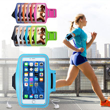 Outdoor Sports Universal Armband Case for iphone Redmi Note 7 Gym Running pouch Phone Bag Arm Band Case P30 Honor 10i on hand