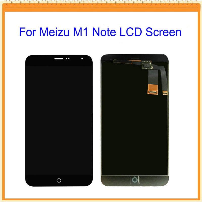 imágenes para Para meizu meilan note m1 nota pantalla lcd con pantalla táctil digitalizador asamblea negro, con la PISTA