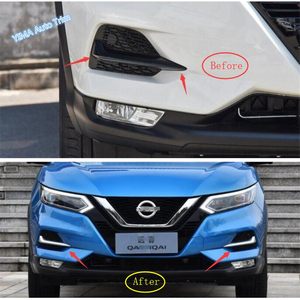 Image 2 - Lapetus Auto Styling Front Head Fog Lights Foglight Lamp Eyelid Eyebrow Cover Trim Fit For Nissan Qashqai J11 2018   2020 Chrome