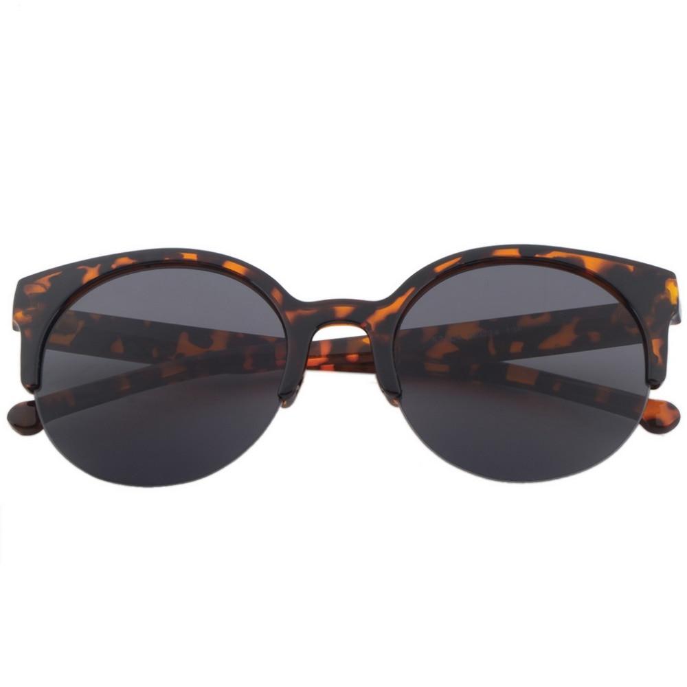 Fashion Unisex Retro Round Circle Frame Semi-rimless Sunglasses Eyewear Summer Sunglass Stylish Elegant