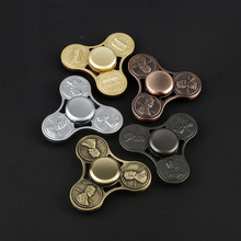 Hand Spinner edc UFO spinner US dollars Cents Coins Gyro Aluminum Rotate font b Toy b