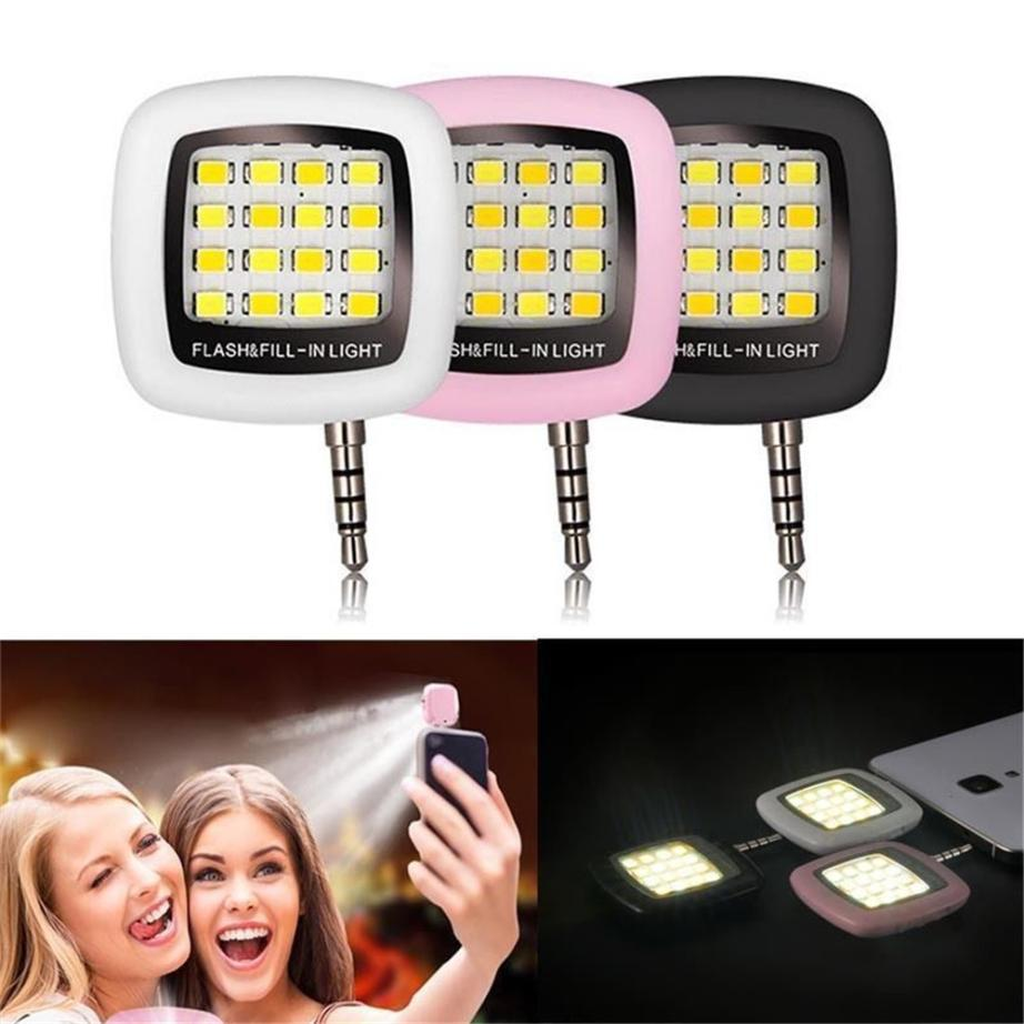 Mobile Phone Accessories Phone Flash Portable Phone Selfie Mini 16 Led Flash Fill Light For Smartphone Cell Phone Adapter Accessories Mobile Phone Adapters