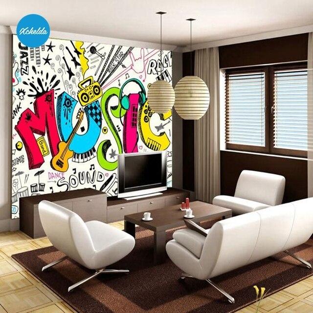 XCHELDA 3D Muurschildering Wallpapers Custom Schilderen Muziek Thema ...