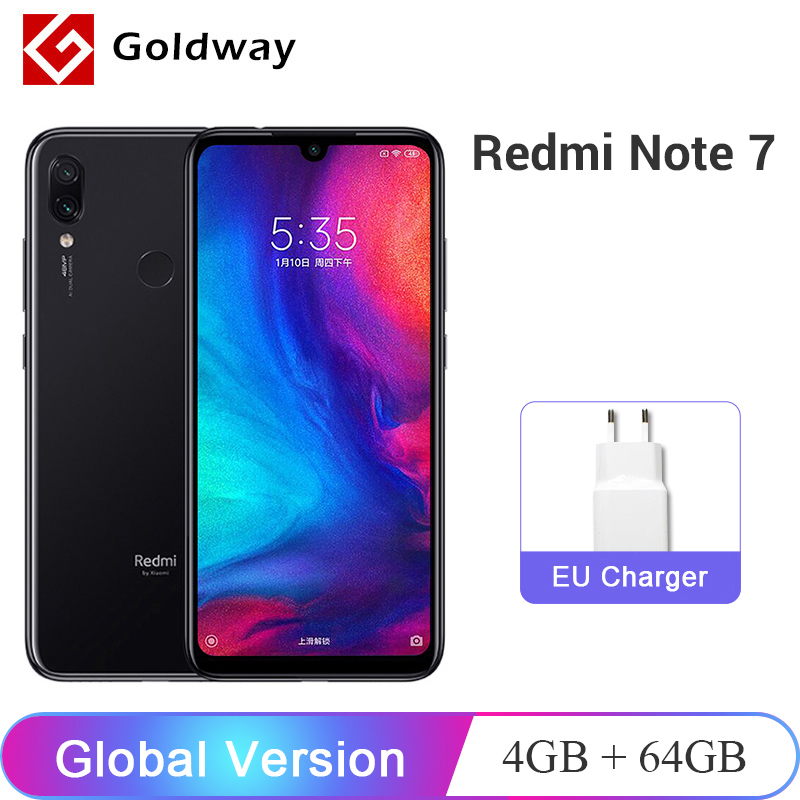 "Global Version Xiaomi Redmi Note 7 4GB 64GB SmartPhone Snapdragon 660 Octa Core 48MP Dual Camera 6.3"" 19.5:9 Full Screen 4000mAh(Hong Kong,China)"