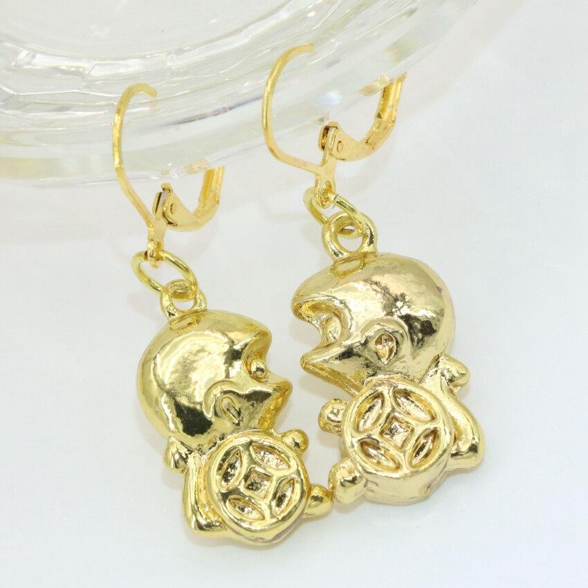 YIIYI BEADS Store Wholesale price hot sale new fashion Bohemia style 13*25mm lucky monkey shape drop dangle earrings for women fine jewelry B2662