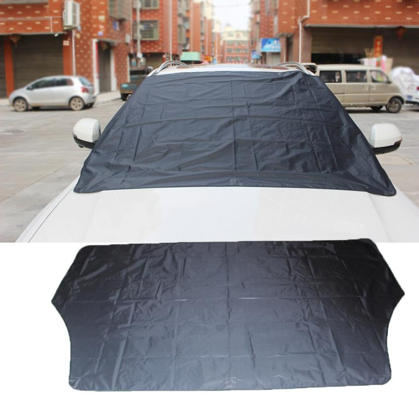 Car-styling 2017 Car Windshield Snow Cover Sun Shade Protector Thicker Snow Protection Cover Dec8