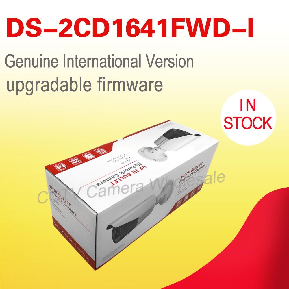 Kostenloser versand Englisch version DS-2CD1641FWD-I ersetzen DS-2CD2645F-IS 4MP netzwerk bullet ip cctv-kamera POE vario-objektiv