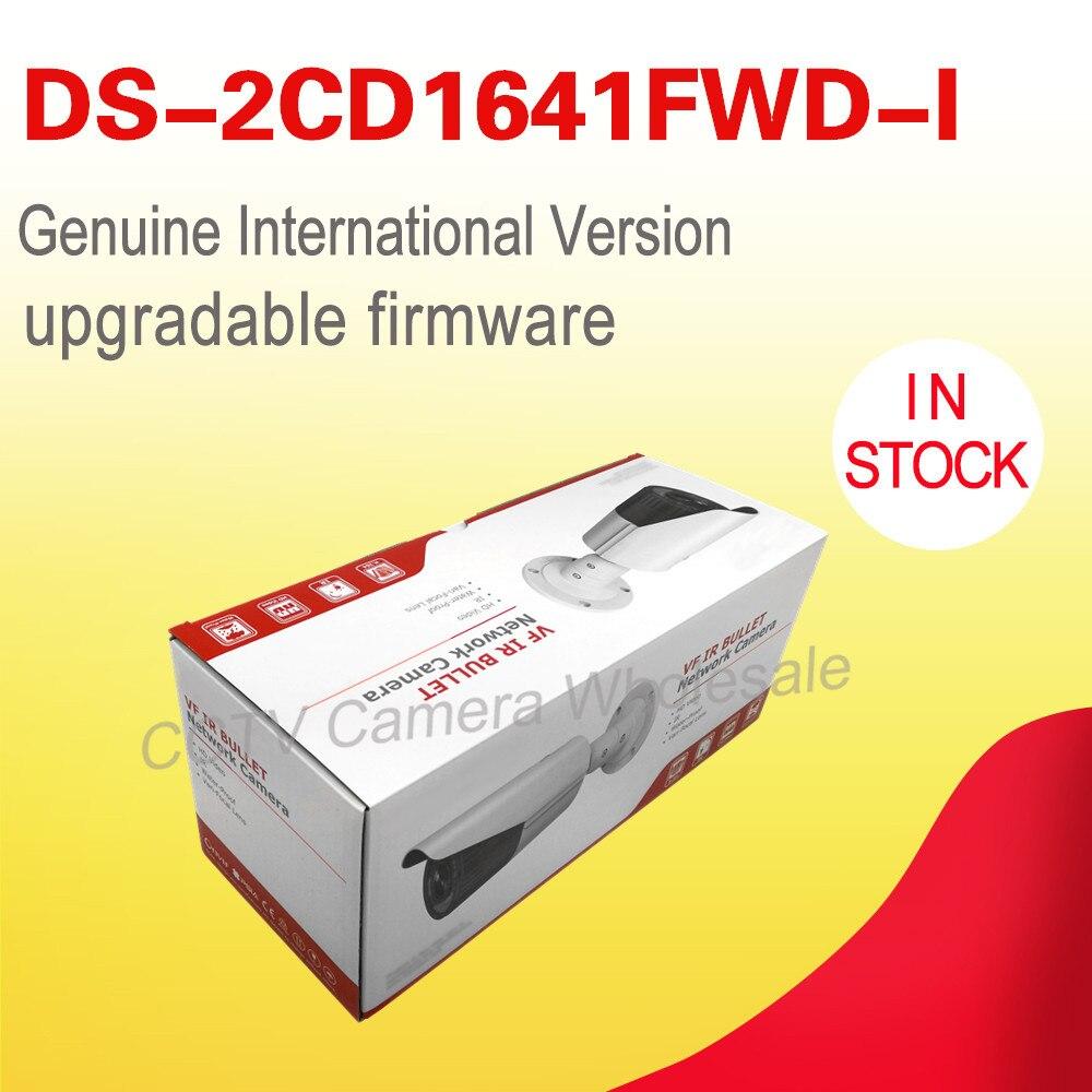Livraison gratuite Anglais version DS-2CD1641FWD-I remplacer DS-2CD2645F-IS 4MP réseau bullet ip cctv caméra POE objectif à focale variable