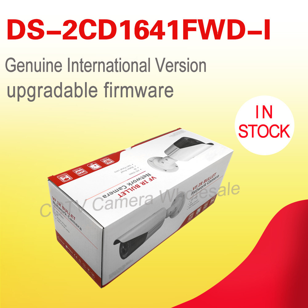 Spedizione gratuita English version DS-2CD1641FWD-I sostituire DS-2CD2645F-IS 4MP network pallottola ip cctv fotocamera POE lente varifocale