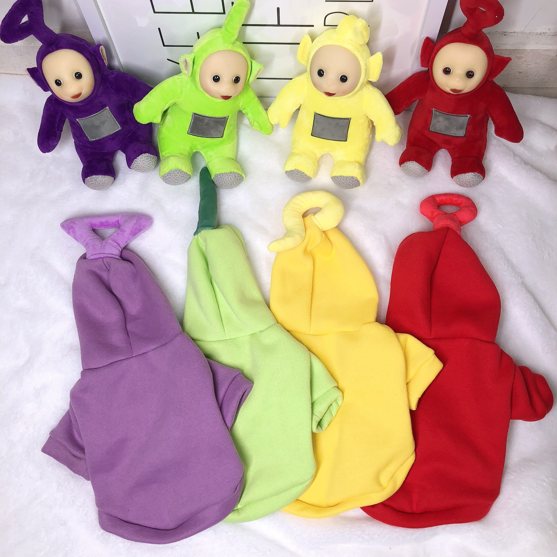 Dog Clothes Funny Teletubbies Pets Clothing Winter Dog Sweater Small Medium Pet Cat Dogs Cot Pets Jackets Corgi Shiba Inu earrings