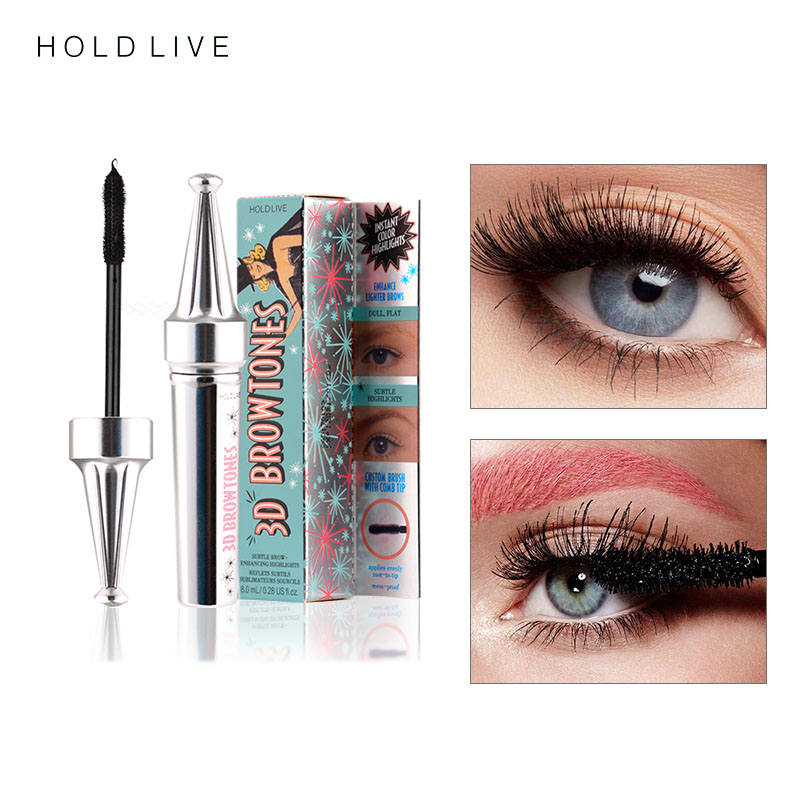 6317dbccf37 HOLD LIVE 3D Fiber Eyelashes Mascara Makeup Lengthening Curling Eye Lashes  Black Waterproof Fiber Mascara Volume