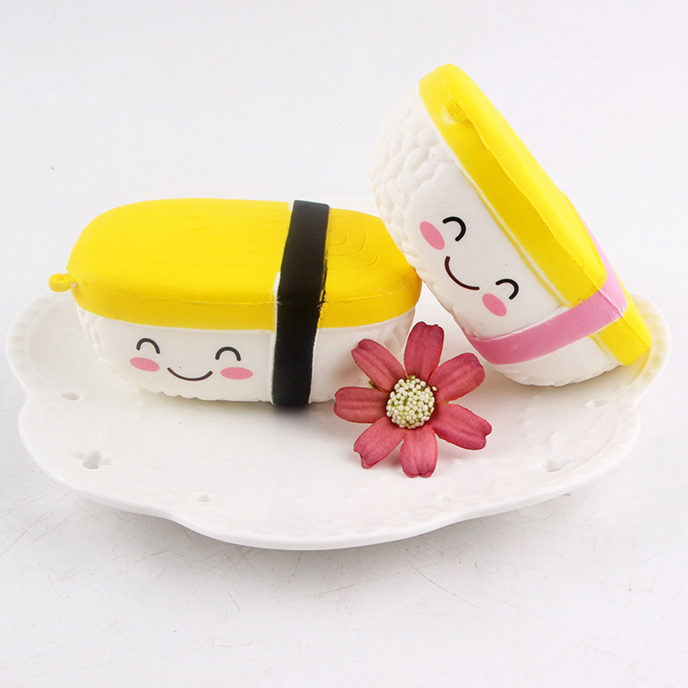 Squeeze Simulation yam burning sushi Model Ornaments Cake Bakery Room Home Decoration Craft Kids Pretend Play Pendant Toy