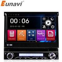 Eunavi Single 1 DIN uniwersalny Samochodowy Odtwarzacz DVD Radio Samochodowe auto radio Nawigacja GPS z Dotykowy samochodowy Stereo + darmowe 8 GB mapie