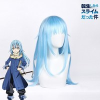 That Time I Got Reincarnated as a Slime Rimuru Tempest Blue Wig Cosplay Tensei shitara Slime Datta Ken Cosplay
