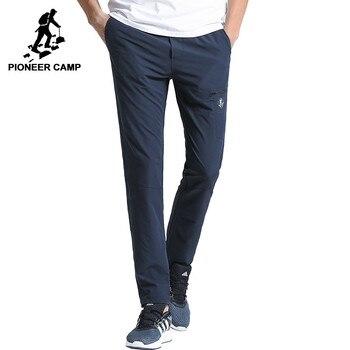 Pioneer obóz nowy szybkoschnący spodnie na co dzień mężczyźni marka odzież stałe proste spodnie męskie jakości stretch AXX701160