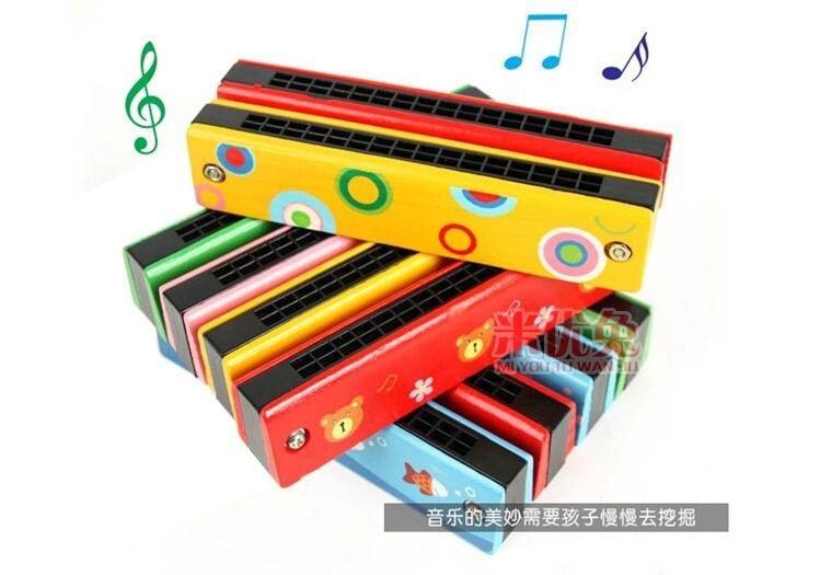 16 Gaten kinderen houten Harmonica muziekinstrument Speelgoed / Baby - Leren en onderwijs